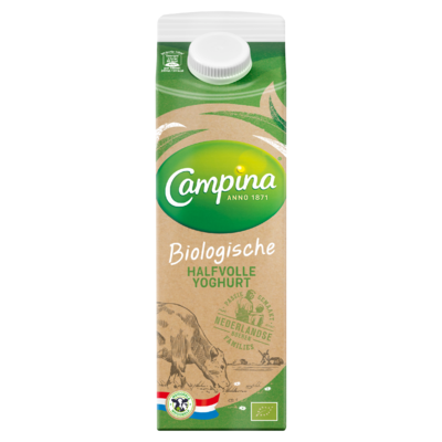 Campina Biologisch Halfvolle Yoghurt 1 L