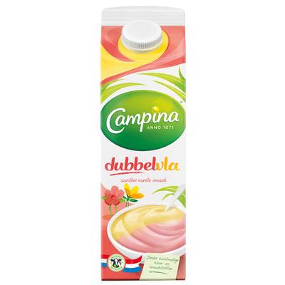 Campina Dubbelvla aardbei-vanille