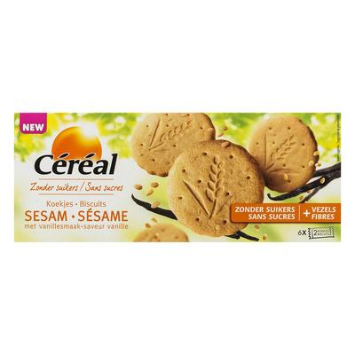 Cereal Sesamkoekjes met vanillesmaak