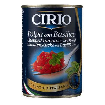 Cirio Tomatenblokjes met basilicum