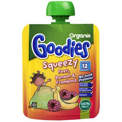Organix Squeezy peer, banaan & framboos 12+ mnd