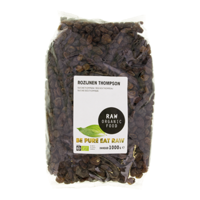 Raw Organic Food Rozijnen Thompson RAW Bio