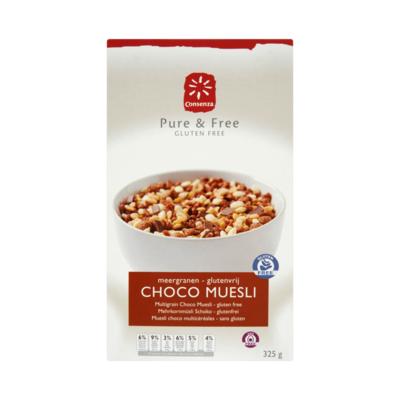 Consenza Pure & Free Glutenvrij Meergranen Choco Muesli
