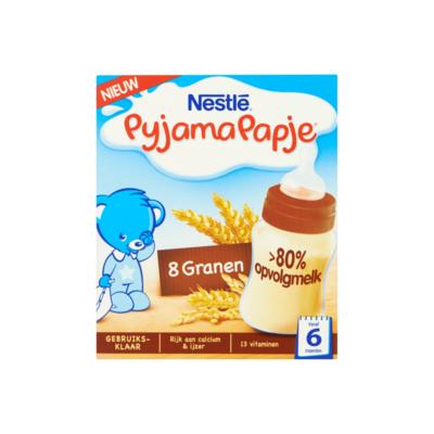 Nestlé PyjamaPapje Vanille met Rijstebloem van 6 tot 36 Maanden