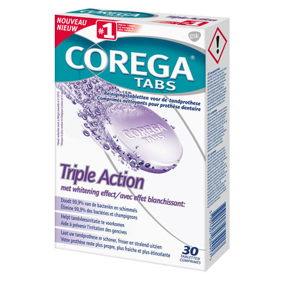Corega Tabs triple action