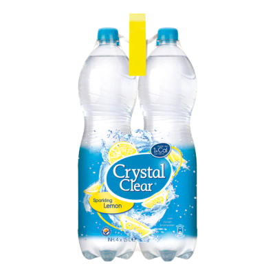 Crystal Clear Sparkling Lemon Multipack 4 Flessen