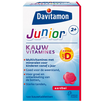 Davitamon Junior kauwvitamines aardbei 2+ jaar