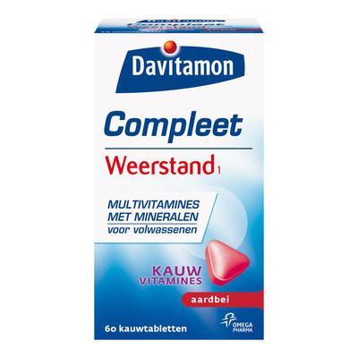 Davitamon Compleet weerstand kauwvitamines aardbei