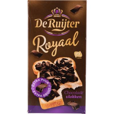 De Ruijter Chocoladevlokken extra puur en groot