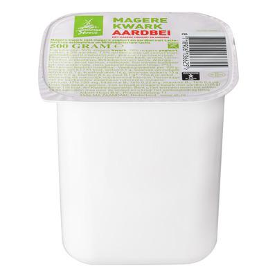 Budget Huismerk Magere kwark met yoghurt aardbei