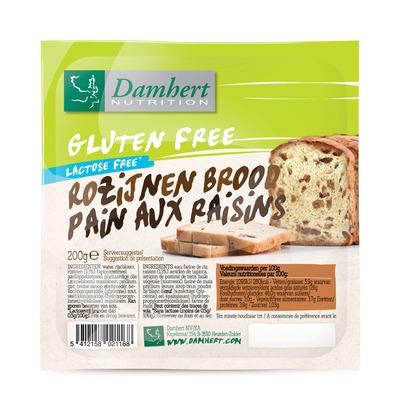 Damhert Rozijnenbrood glutenvrij