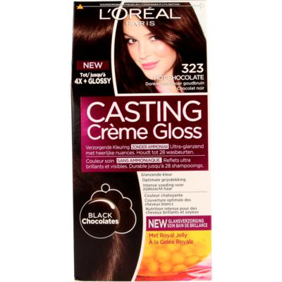 L'Oréal Cast. Crème Gl. 323 HotCho/Donker Parelmoergoudbruin