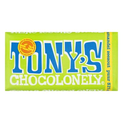 Tony's Chocolonely Puur 51% amandel-zeezout
