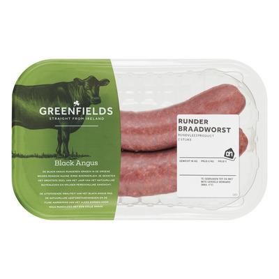 Huismerk Greenfields gekruide runderbraadworst