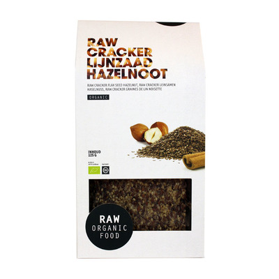 Raw Organic Food Crackers lijnzaad hazelnoot