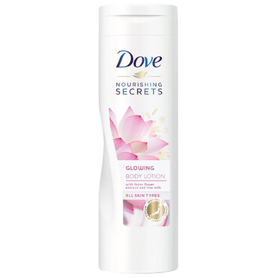 Dove Bodylotion glowing