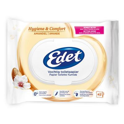 Edet Vochtig toiletpapier rich almond