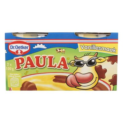 Dr. Oetker Paula vanille vla met chocolade vlekken