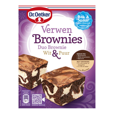 Dr. Oetker Verwen brownies duo
