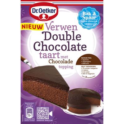 Dr. Oetker Verwen double chocolate taart