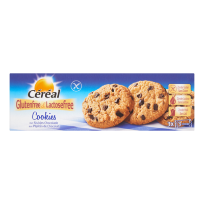 Céréal Glutenfree & Lactosefree Cookies met Stukjes Chocolade 3 x 3 Stuks