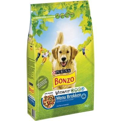 Bonzo hondenbrokken menu met kip en groenten