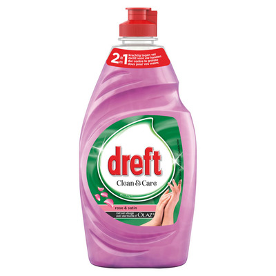Dreft Clean & soft afwasmiddel roos-satijn