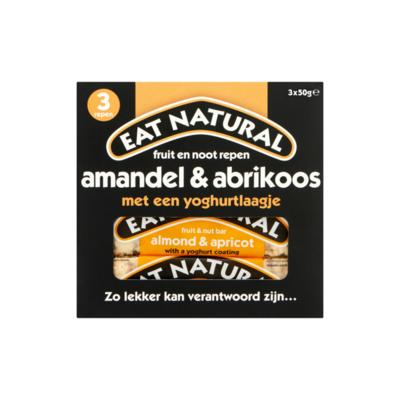 Eat Natural Fruit en Noot Repen Amandel & Abrikoos met een Yoghurtlaagje