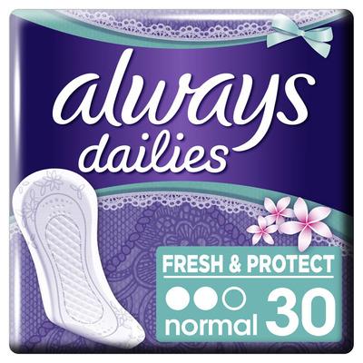 Always Dailies fresh & protect Inlegkruisjes