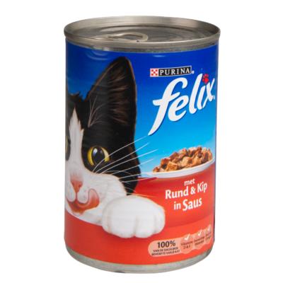 Felix Brokjes in saus rund en kip