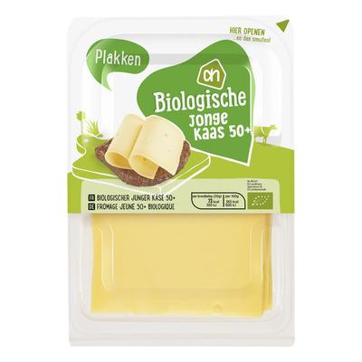 AH Biologisch Jonge kaas 50+ plakken
