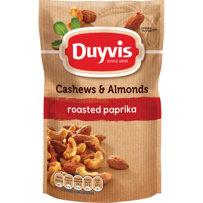 Duyvis Pure & natural cashews & almonds paprika