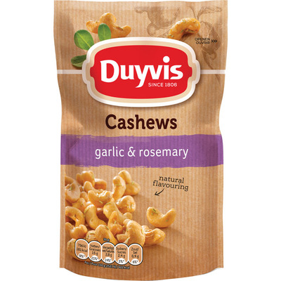 Duyvis Pure & natural cashews garlic rosemary