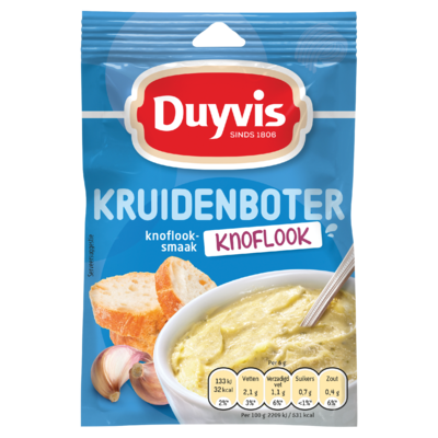 Duyvis Kruidenbotermix Knoflook Kruidenboter Knoflooksmaak 6g