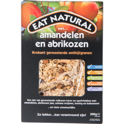 Eat Natural Ontbijtgranen amandel en abrikoos