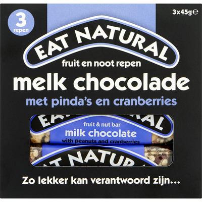 Eat Natural Fruit en noot repen melk chocolade