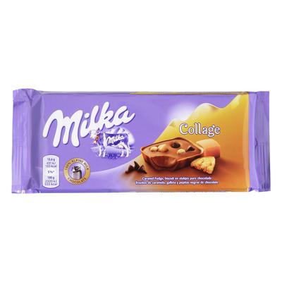 Milka Reep collage fudge biscuit