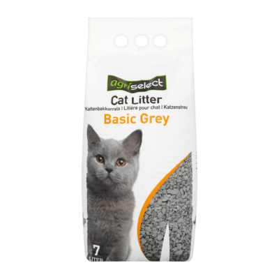 Agriselect Kattenbakkorrels Basic Grey