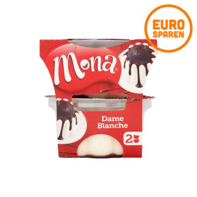 Mona Mini Dame Blanche Pudding met Chocoladesaus