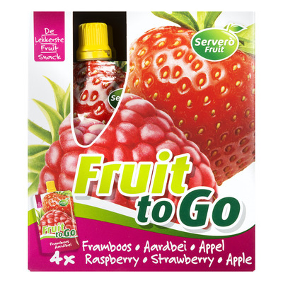 Servero Fruit to go framboos-aardbei- appel