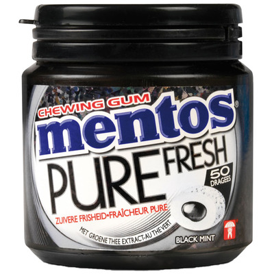 Mentos Gum Bottle pure fresh black mint