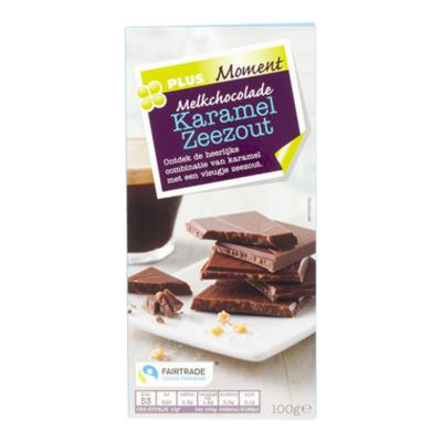 Huismerk Moment Chocoladereep Melk Karamel Zeezout