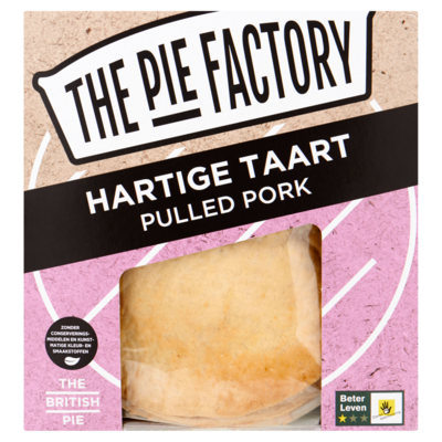 The pie factory Hartige Taart Pulled Pork 250 g