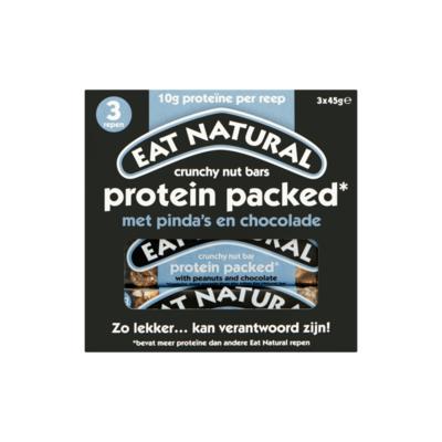 Eat Natural Crunchy Nut Bars Protein Packed met Pinda's en Chocolade