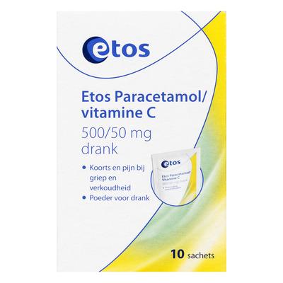 Huismerk Paracetamol/vitamine C 500/50 mg drank