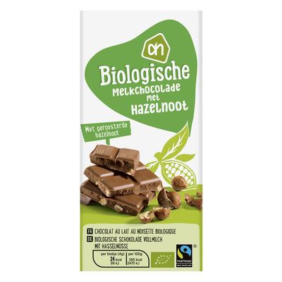 Huismerk Biologisch Melkchocolade hazelnoot