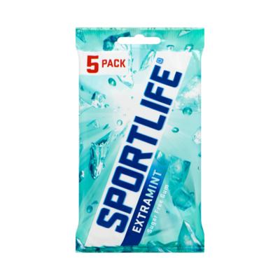 Sportlife Extramint Suikervrij Kauwgom 5-Pack Blister