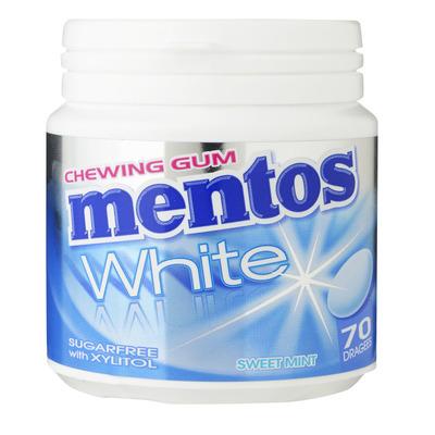 Mentos Gum Bottle white sweet mint