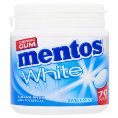 Mentos White Sweet Mint pot 70 stuks