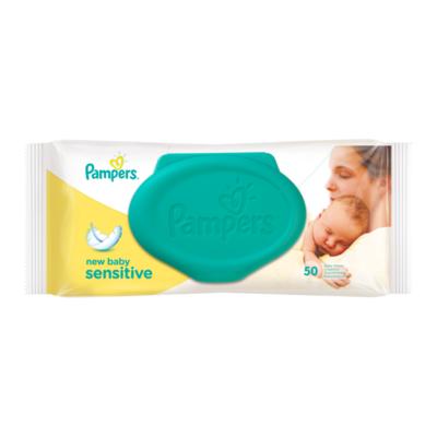 Pampers New Baby Sensitive Babydoekjes Single Verpakking 50 Doekjes